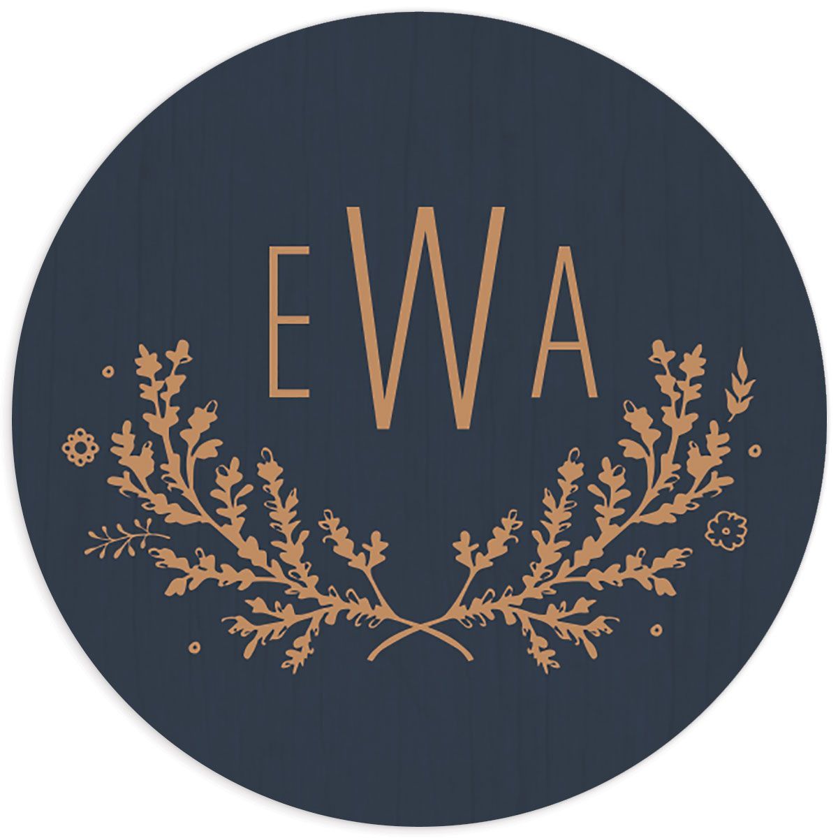 rustic chic wedding stickers in navy