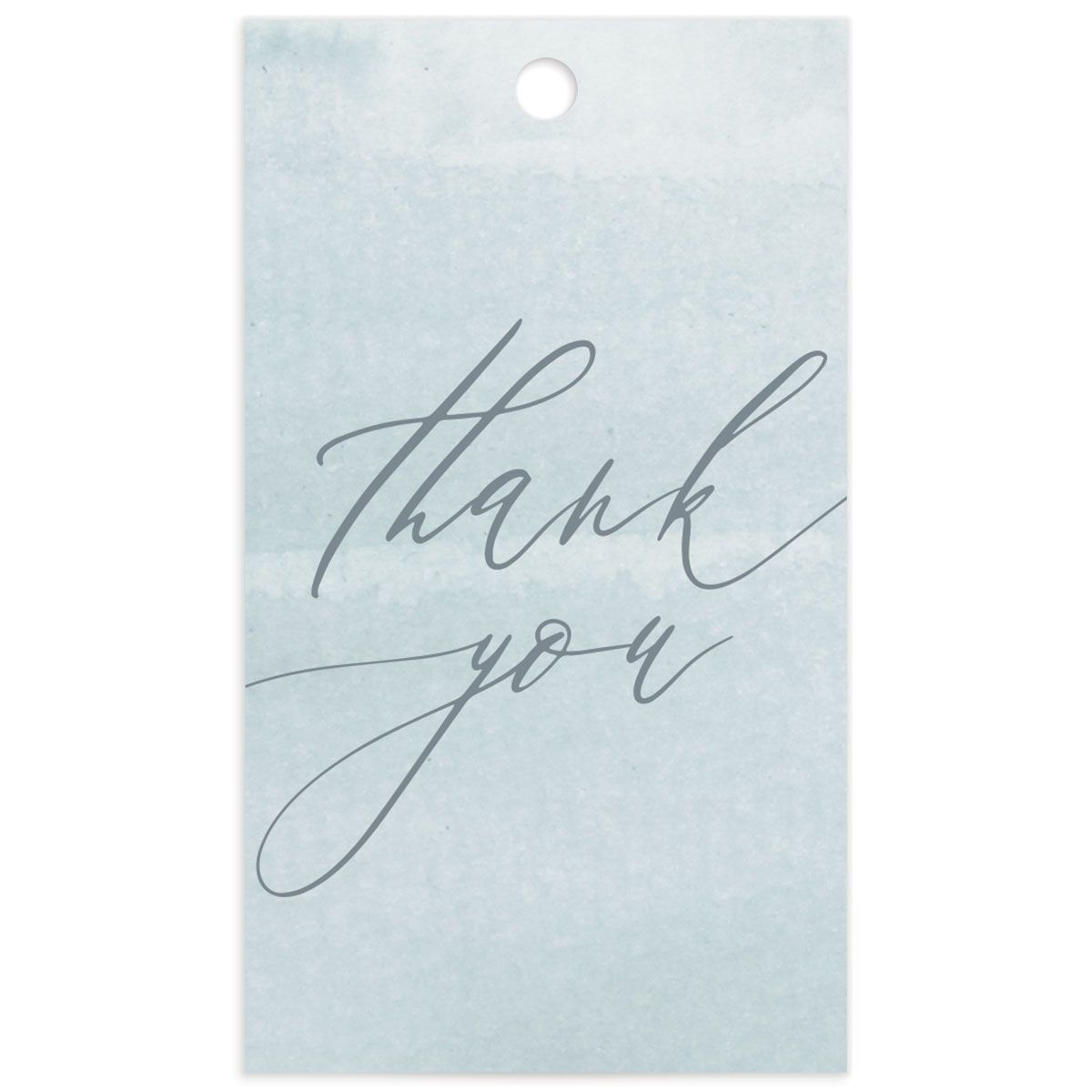 Dusted Calligraphy favor gift tag blue back