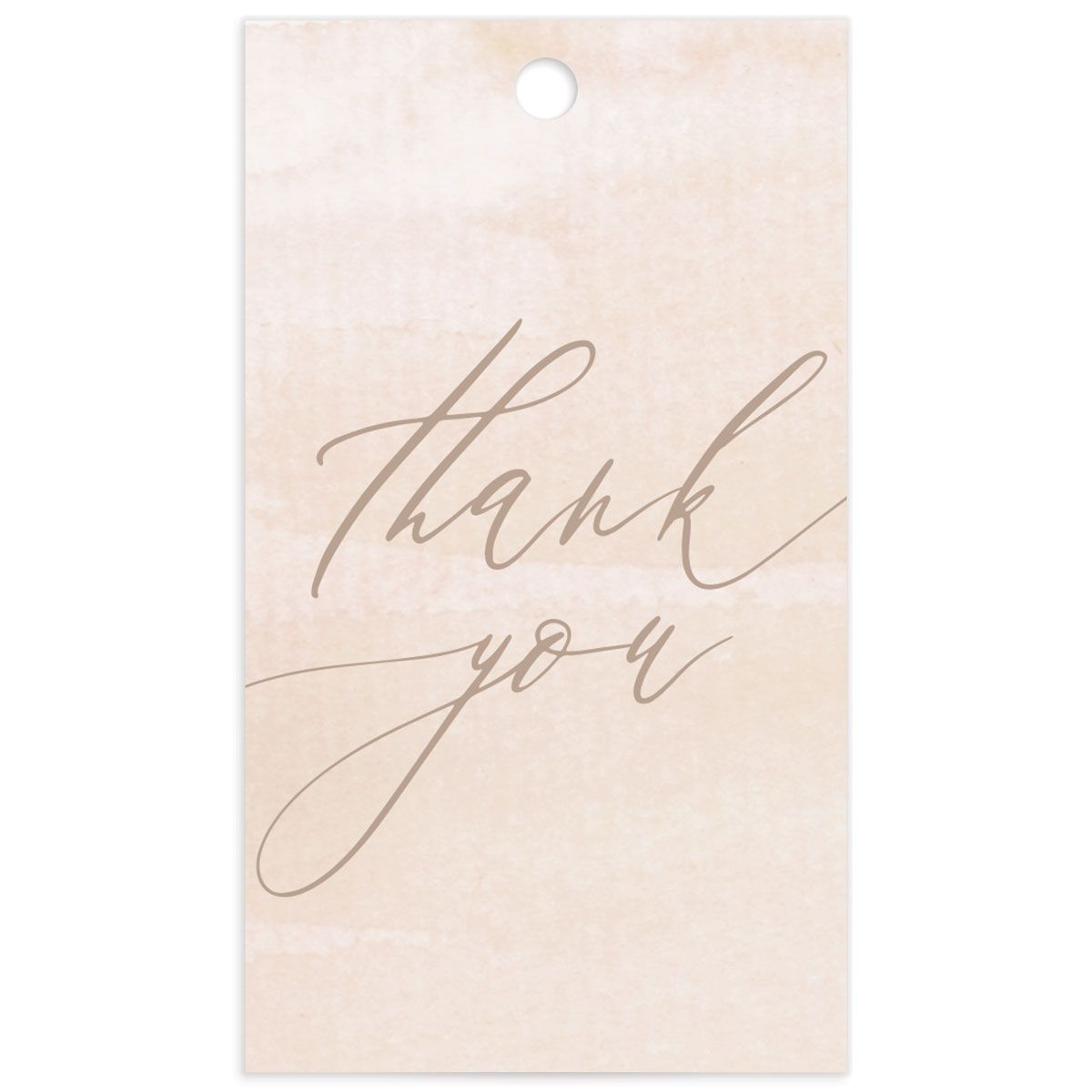 Dusted Calligraphy favor gift tag pink back