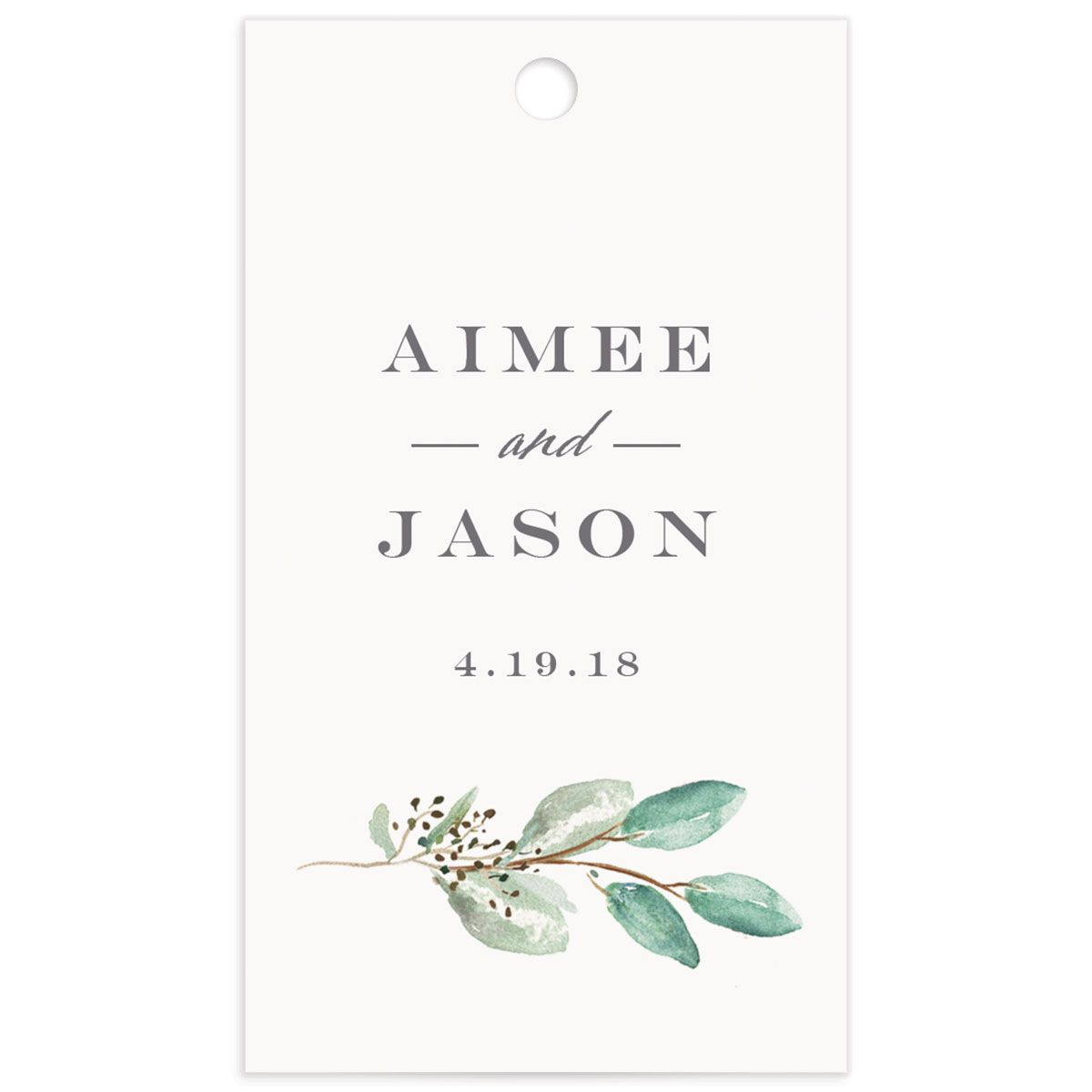 Lush Greenery gift tag front