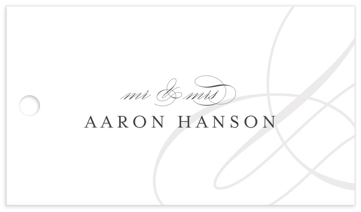 elegantly initialed wedding favor gift tags