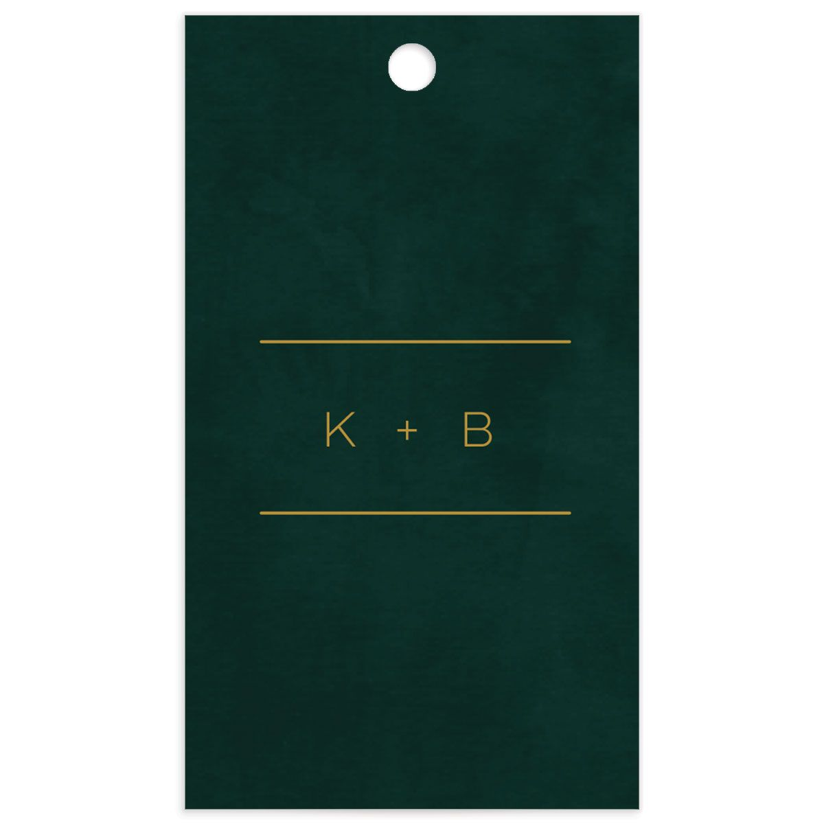 Gold Calligraphy favor gift tags green backer