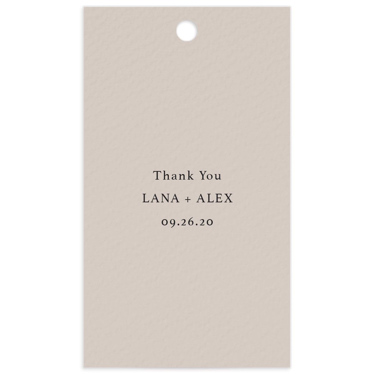 Natural Palette wedding favor gift tags closeup pink front