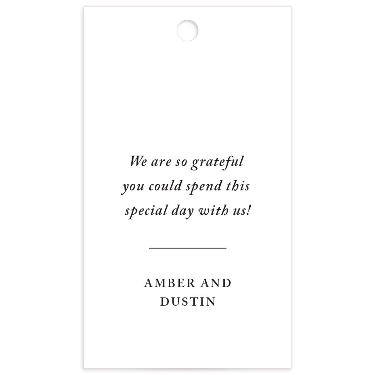 neutral greenery wedding favor tags in orange back