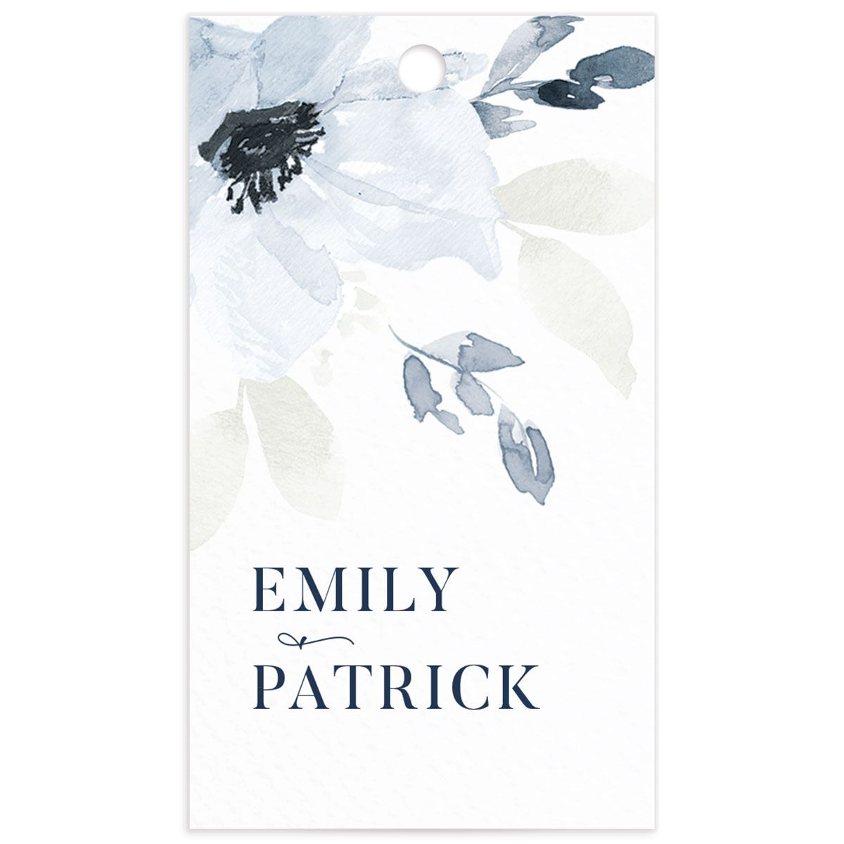 Shades of Blue Favor Gift Tags