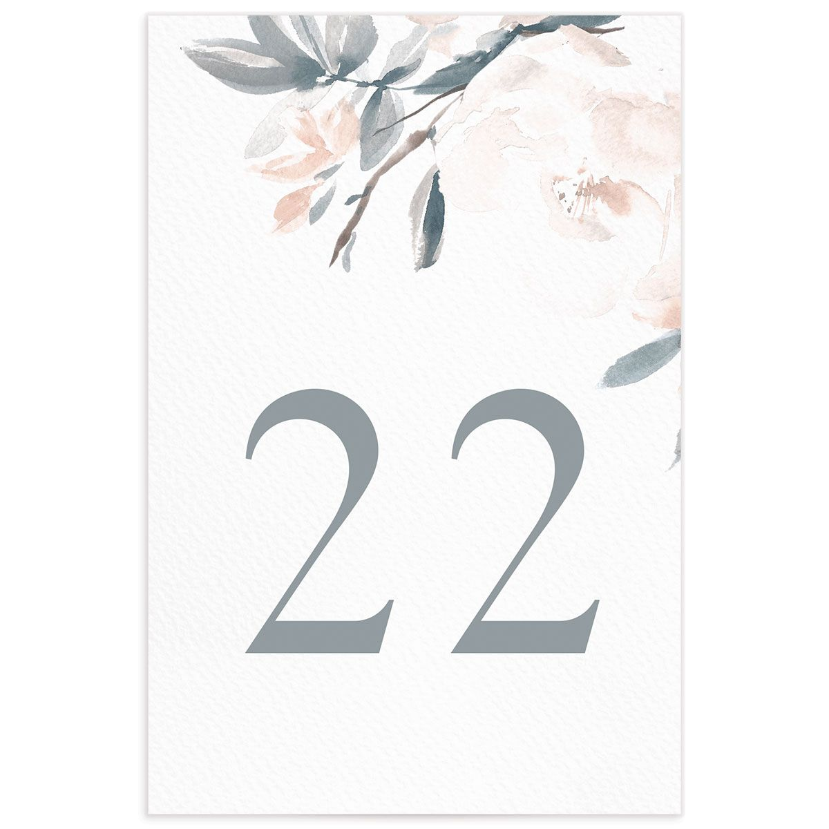 Elegant Garden table numbers in blue