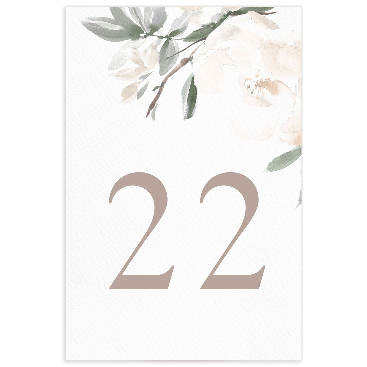 Elegant Garden table numbers in green back