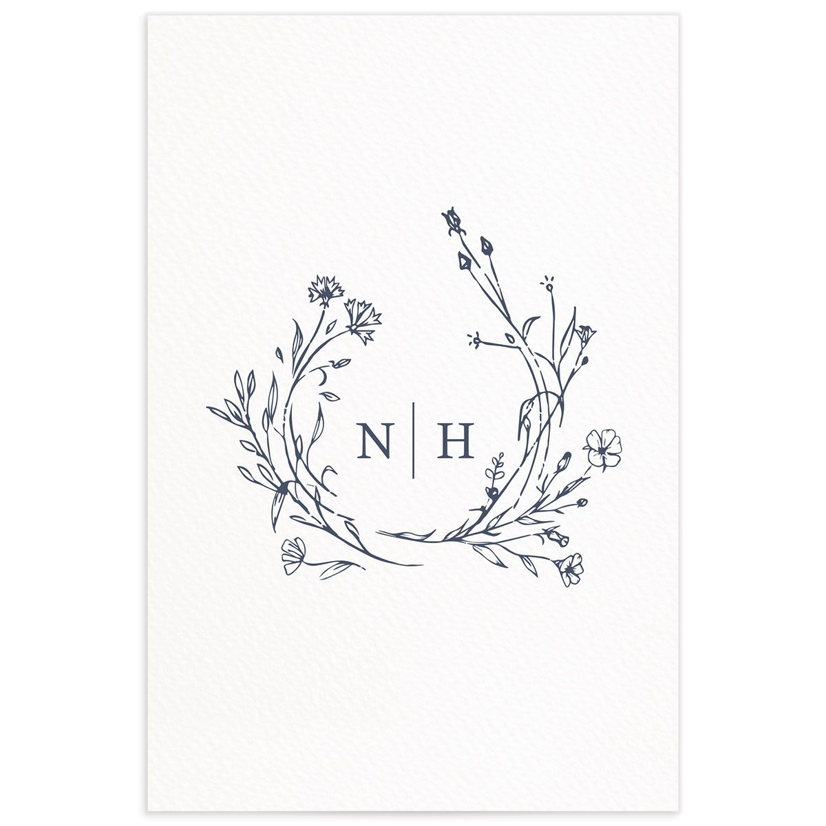 Natural Monogram table numbers back in blue