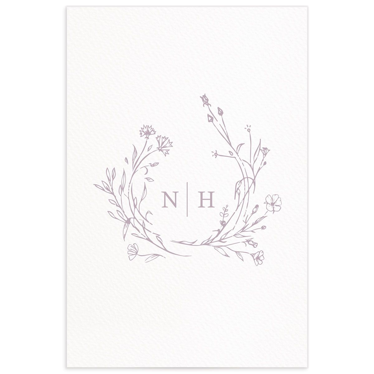 Natural Monogram table numbers back in purple