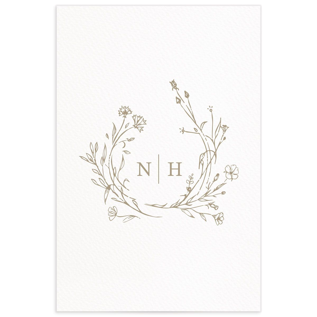 Natural Monogram table numbers back in tan