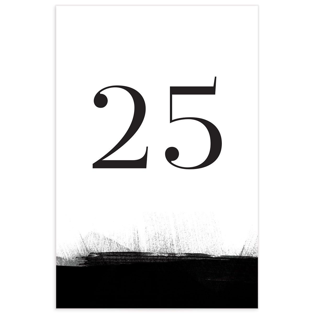 Painted Minimal table numbers front