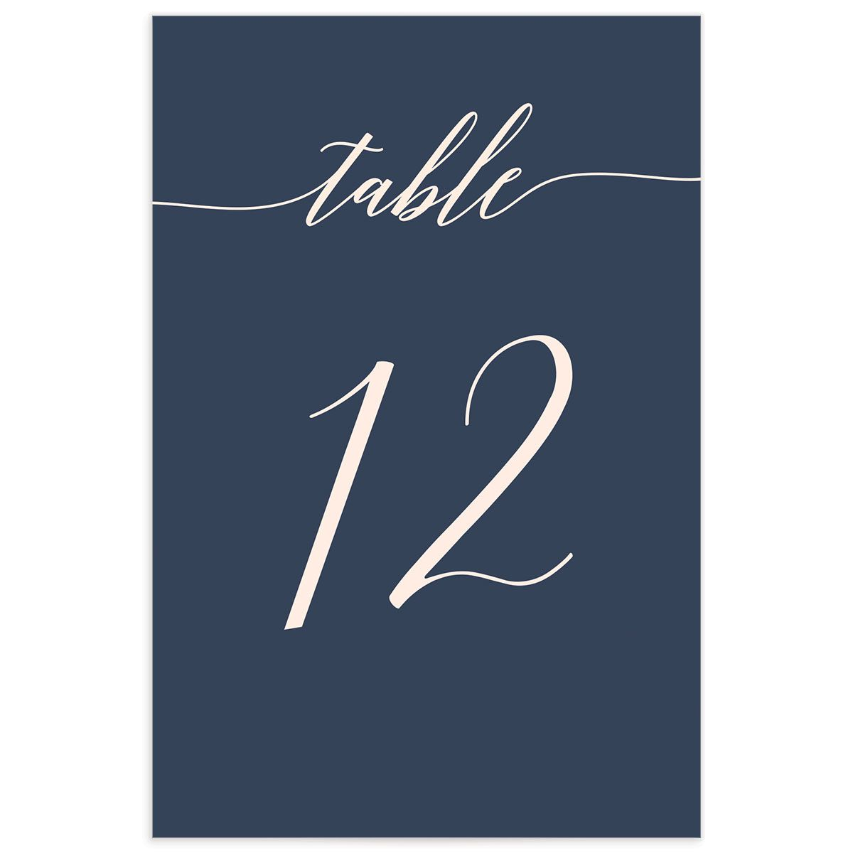 We Do Wedding Table Numbers in Pink front