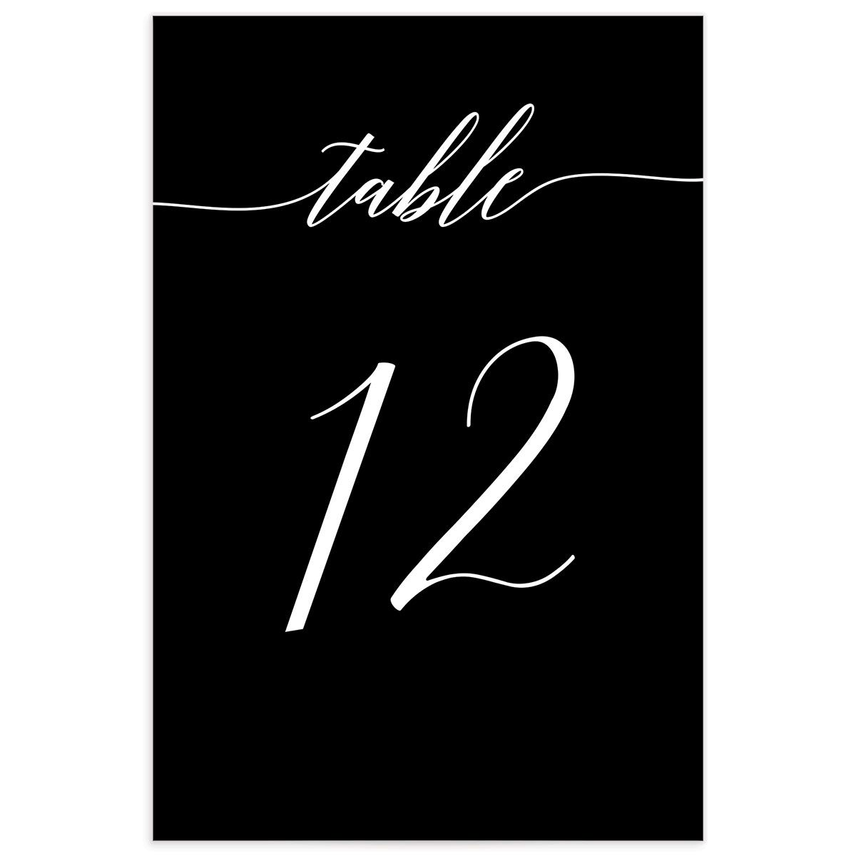 We Do Wedding Table Numbers in Black back