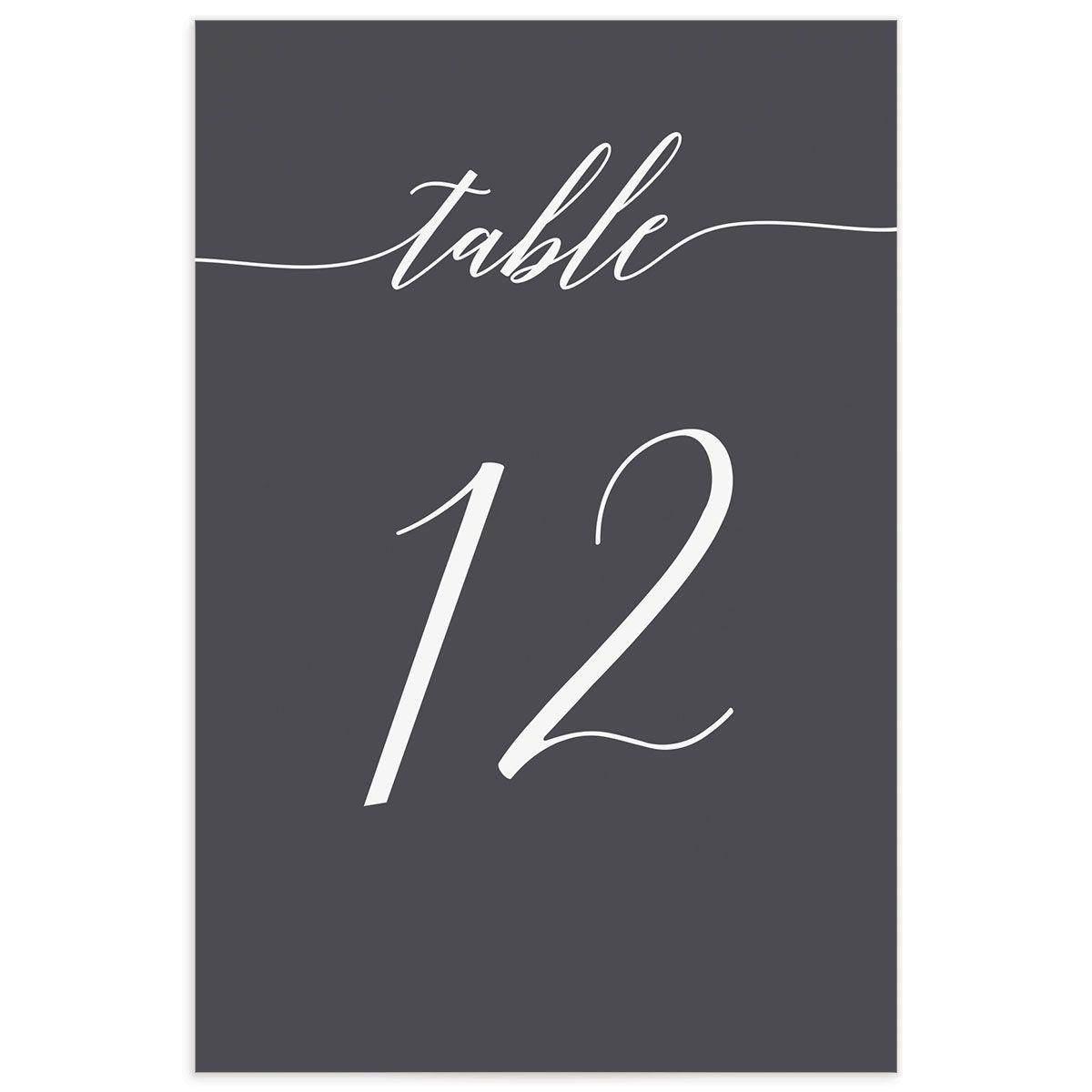 We Do Wedding Table Numbers in Grey back