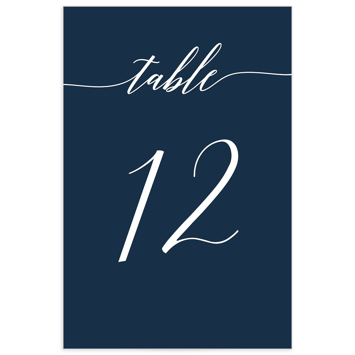 We Do Wedding Table Numbers in Navy back