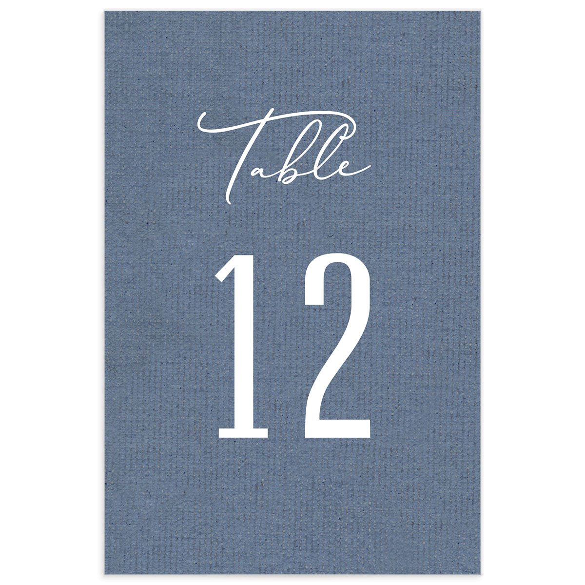 Coastal Love table numbers in blue back