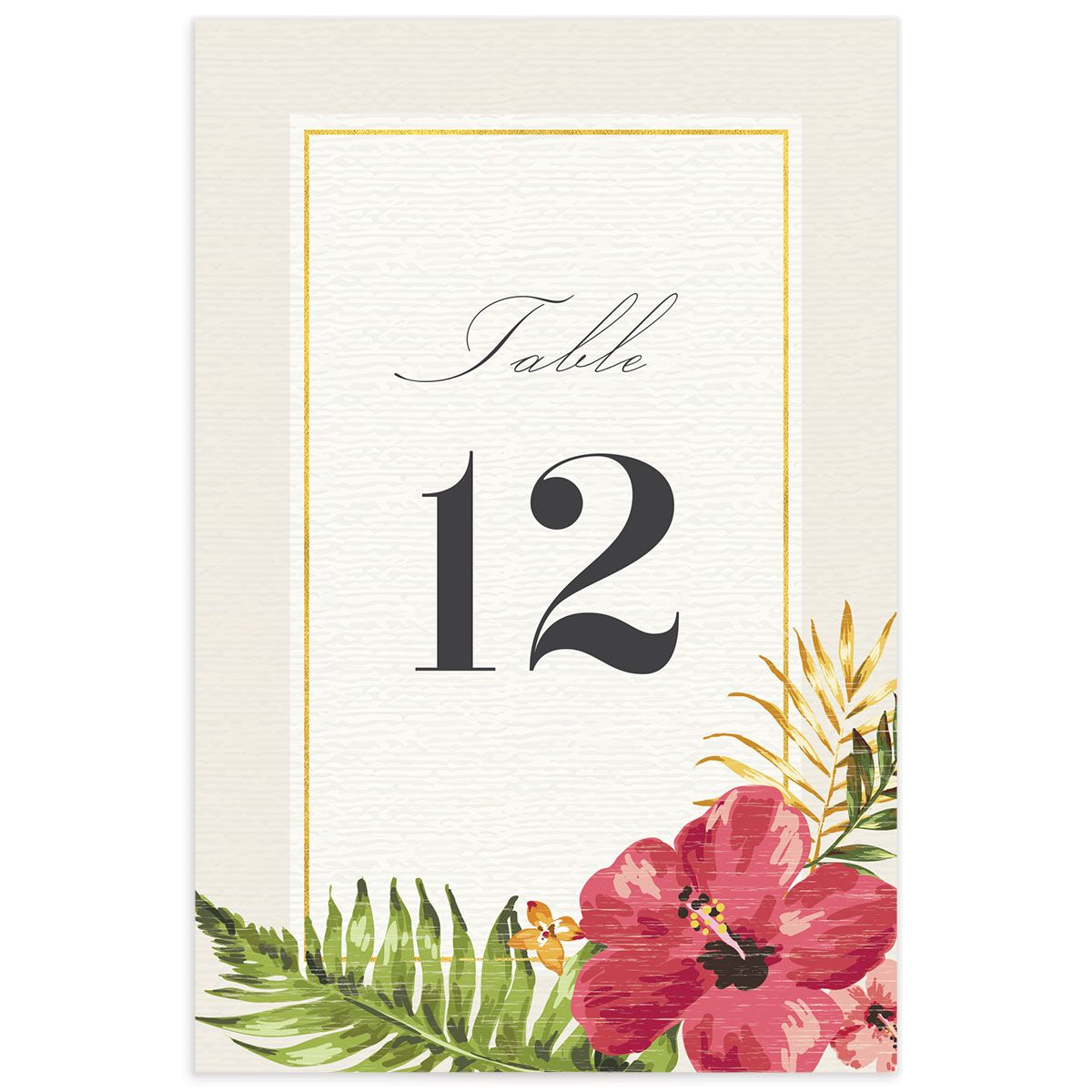 elegant paradise wedding table numbers in cream