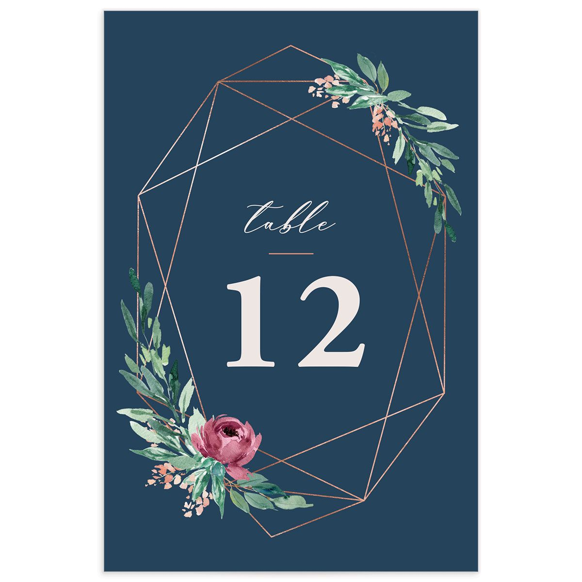 Gilded Botanical table number front