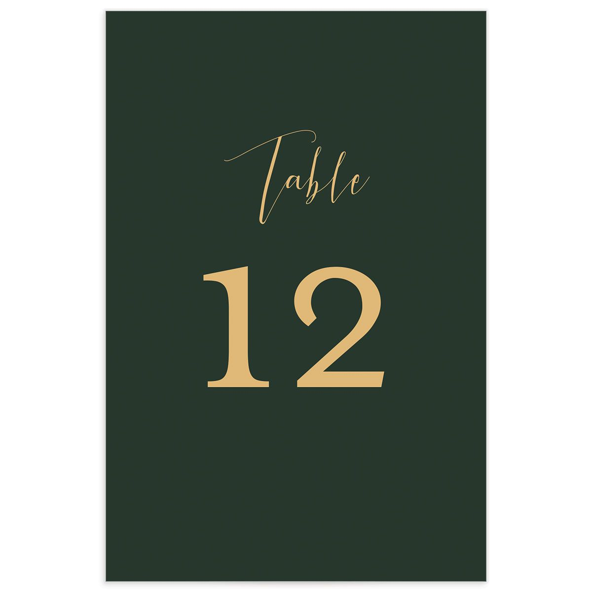 Marble and Gold wedding table numbers front green