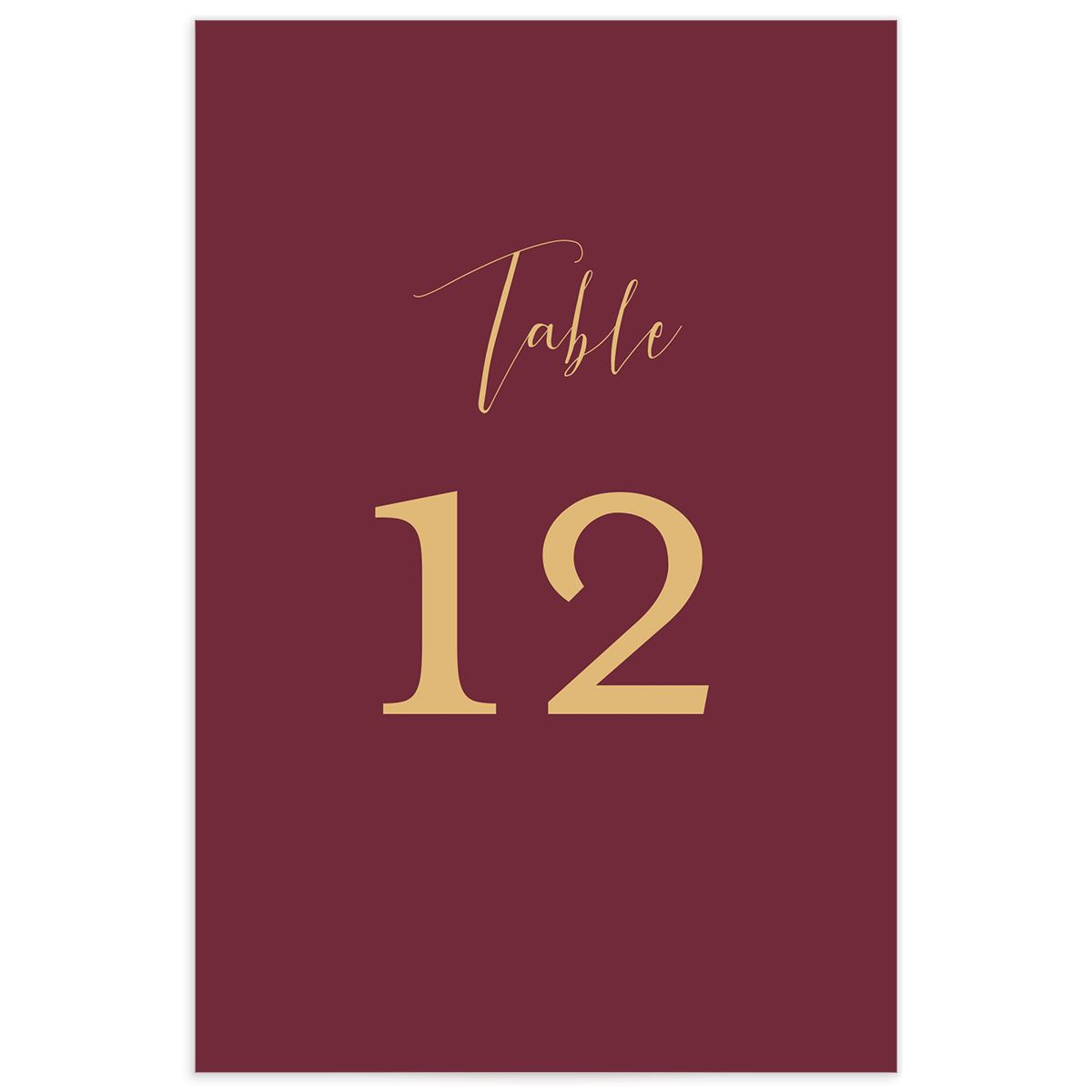 Marble and Gold wedding table numbers front red