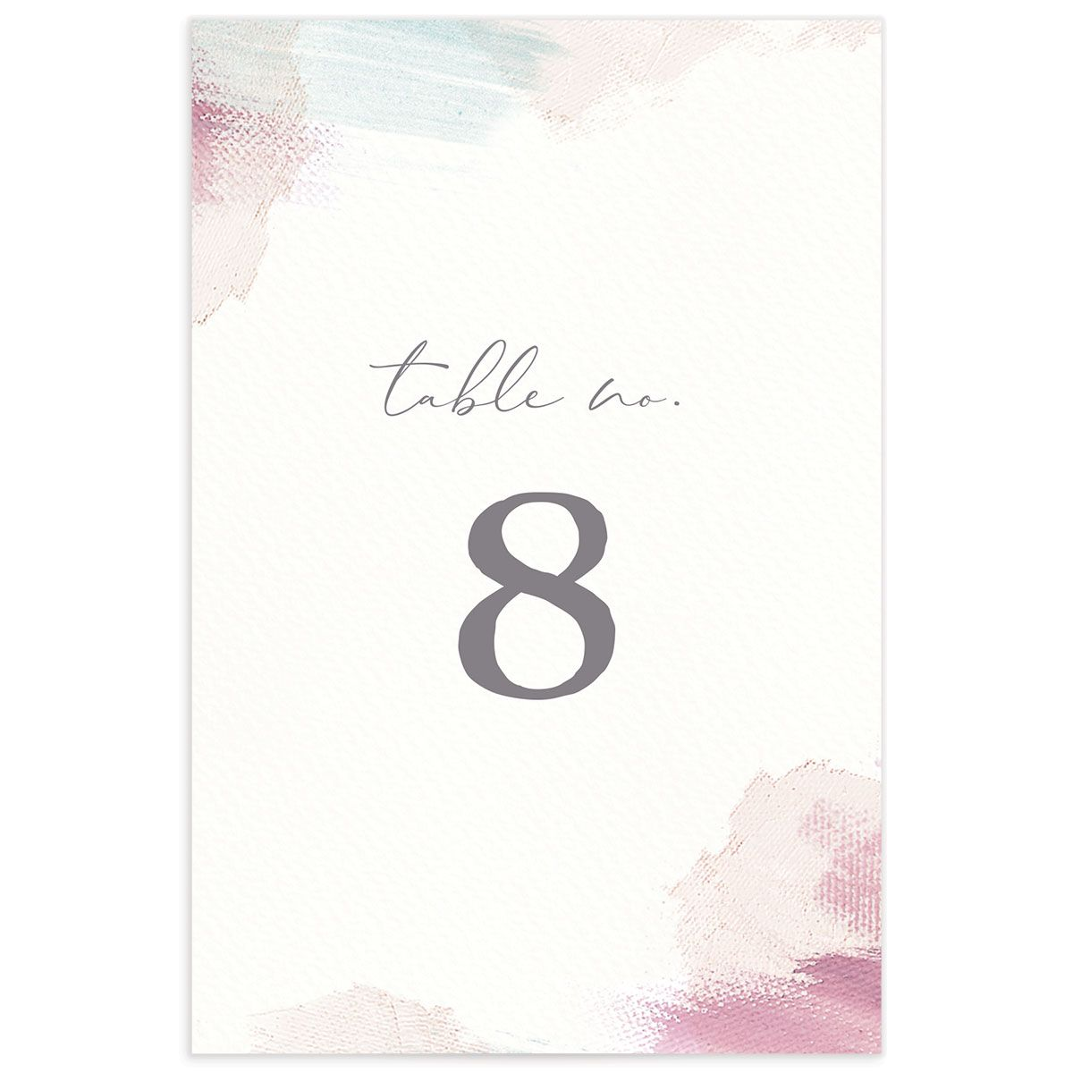 Minimal Brush table number pink front