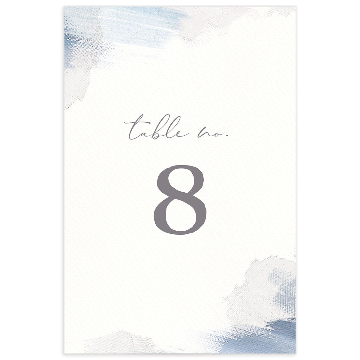 Minimal Brush table number blue back