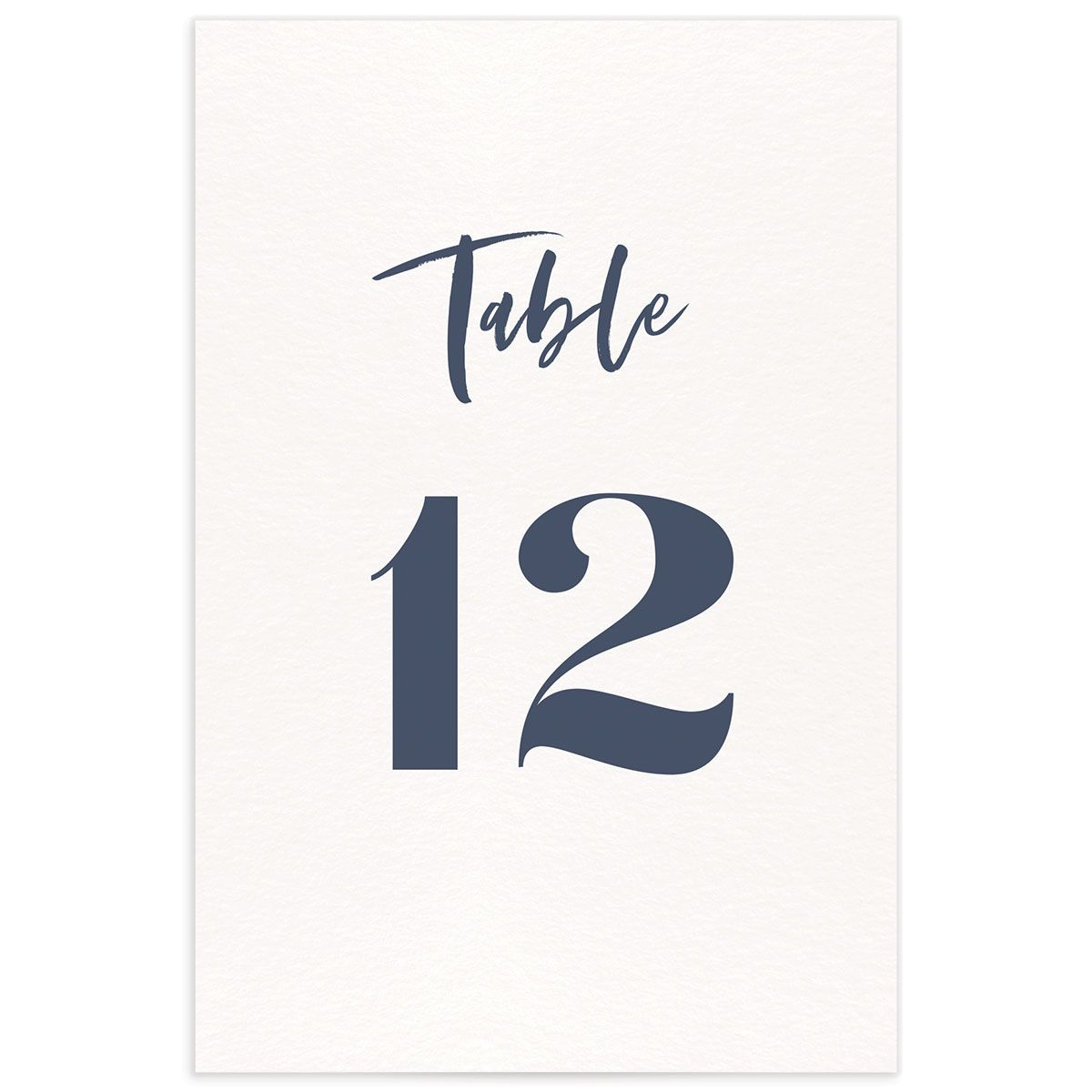 modern luxe wedding table numbers in blue