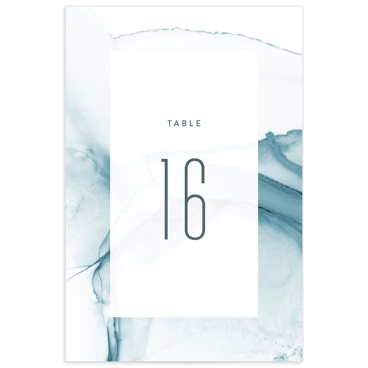 modern wave wedding table numbers