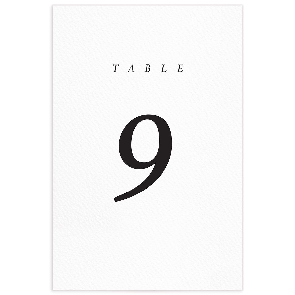 Natural Palette wedding table numbers in white front