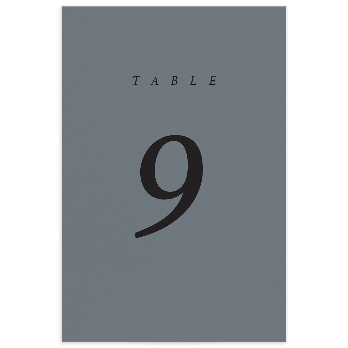 Natural Palette wedding table numbers in blue back