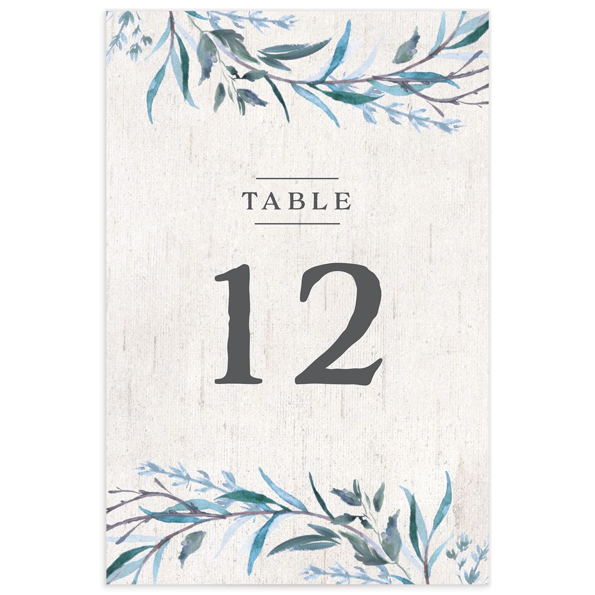 Natural Laurel table number front