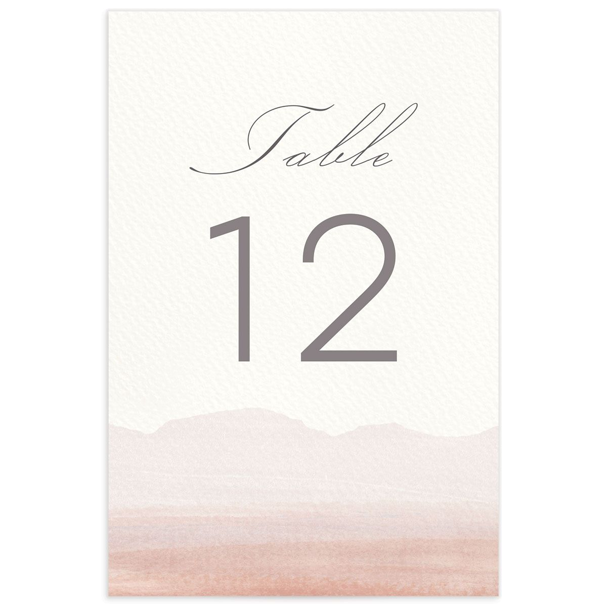 painted desert table numbers in pink