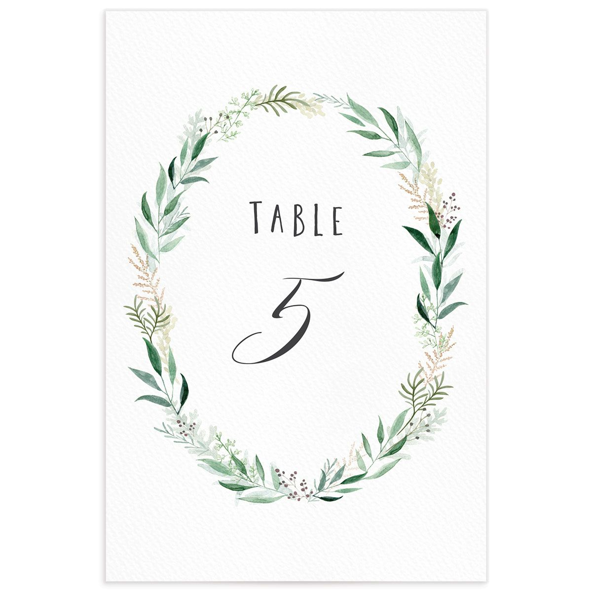 Rustic Wreath Table Numbers front