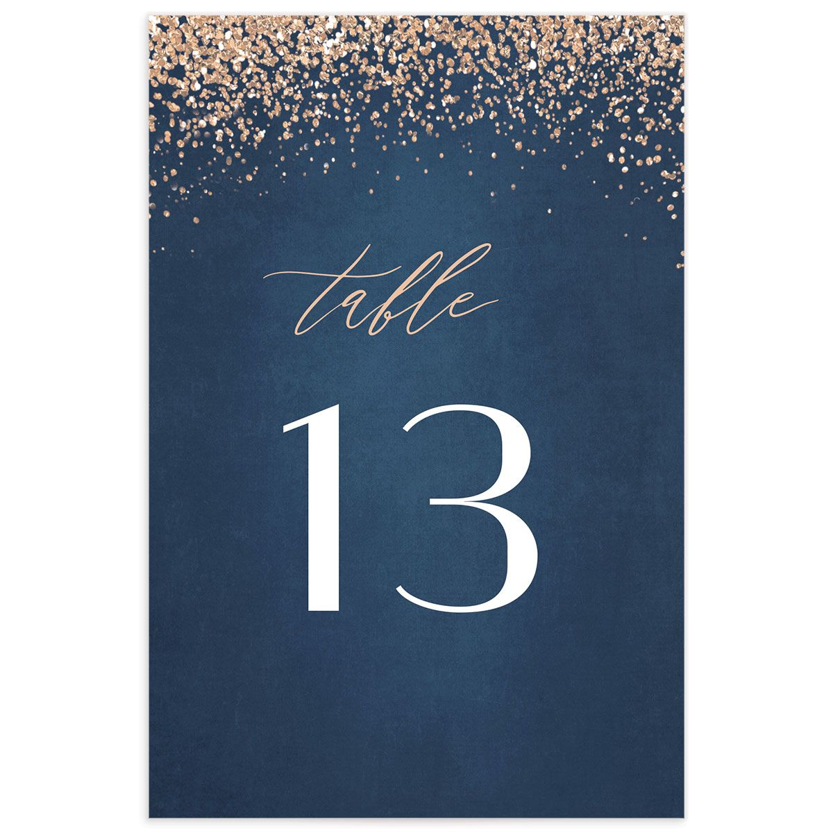 Sparkling Romance table number blue back