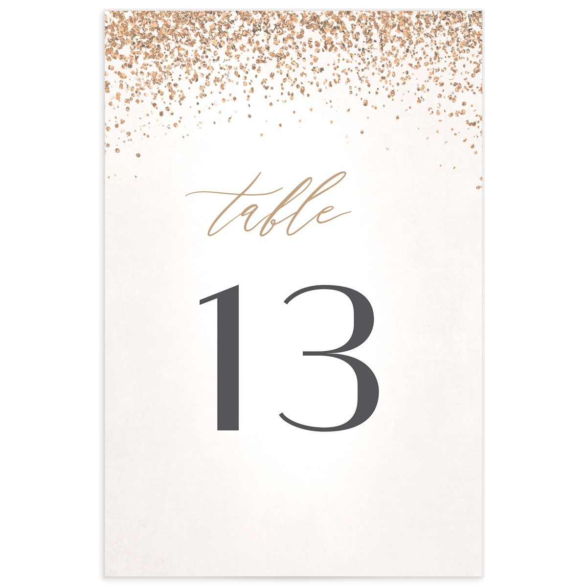 Sparkling Romance table number cream back