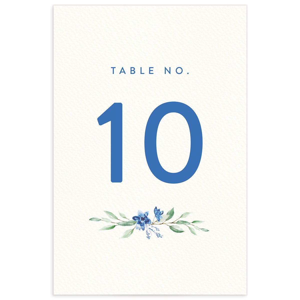 watercolor crest table numbers in blue