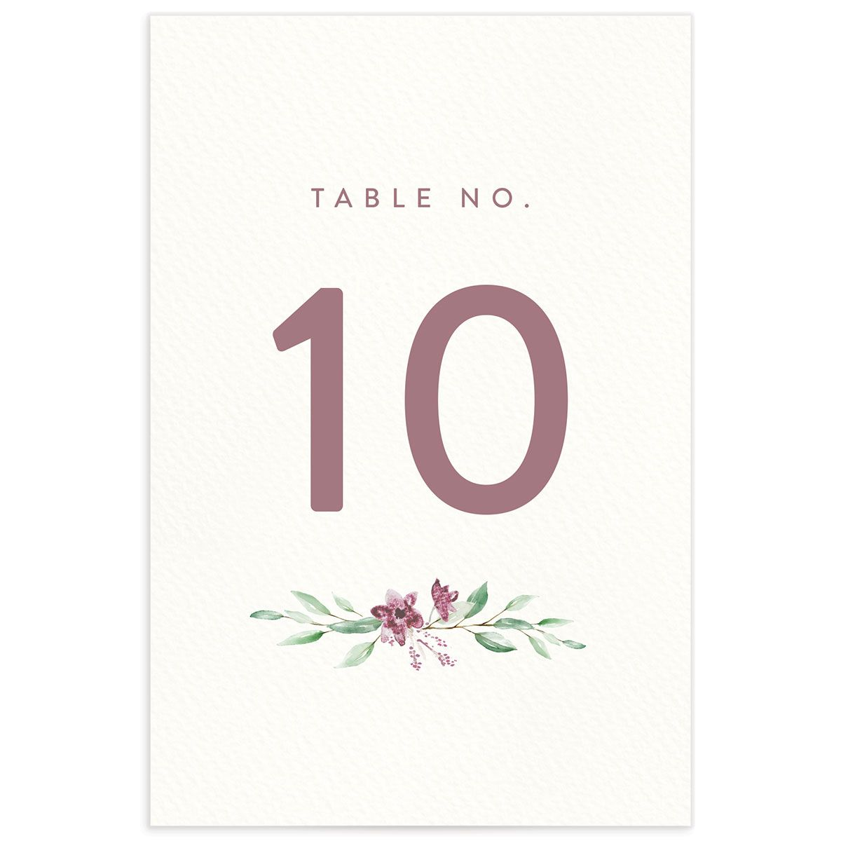 watercolor crest table numbers in pink back