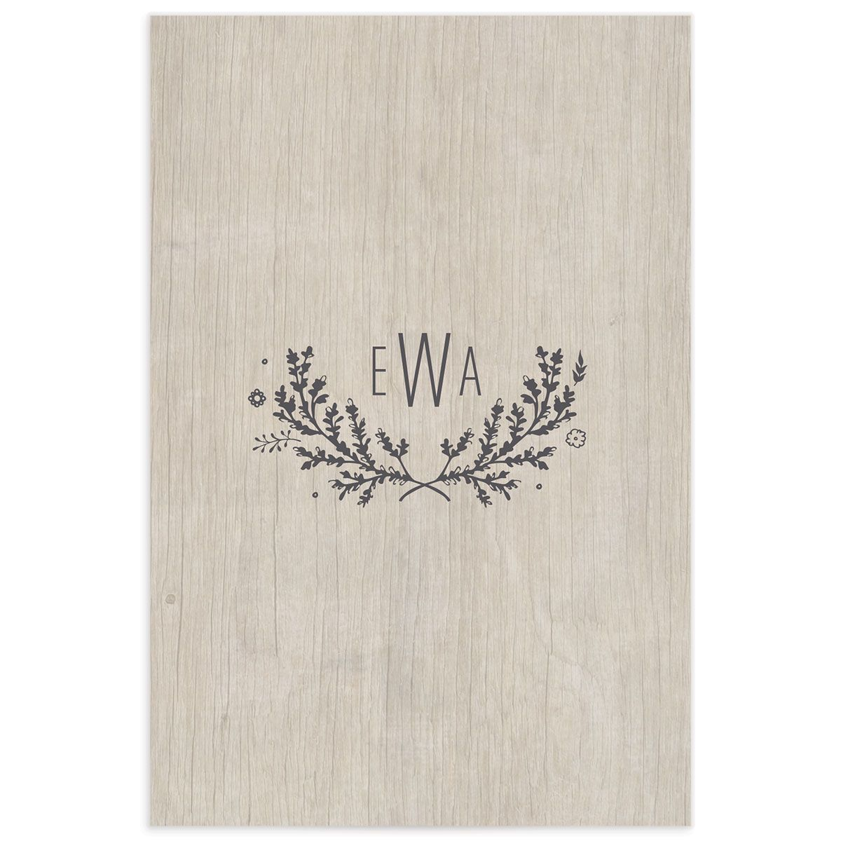 rustic chic wedding table numbers in grey back