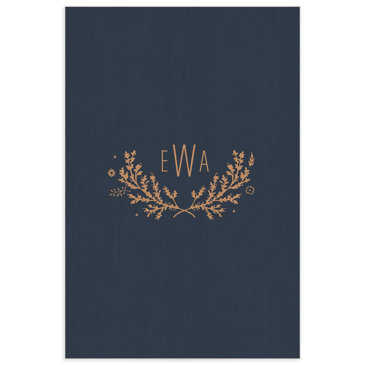 rustic chic table numbers in navy back