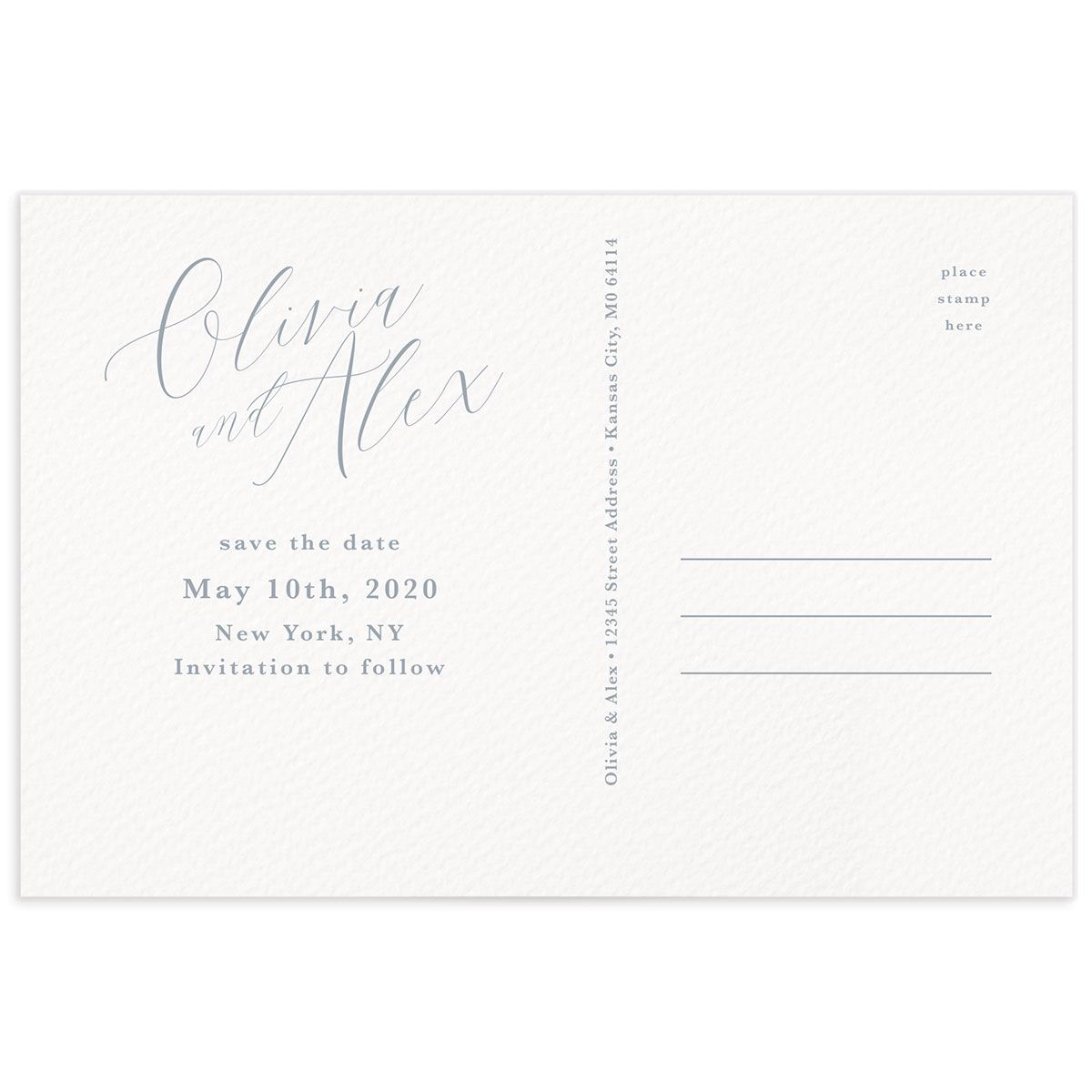 At Last Wedding Announcement Postcards Back