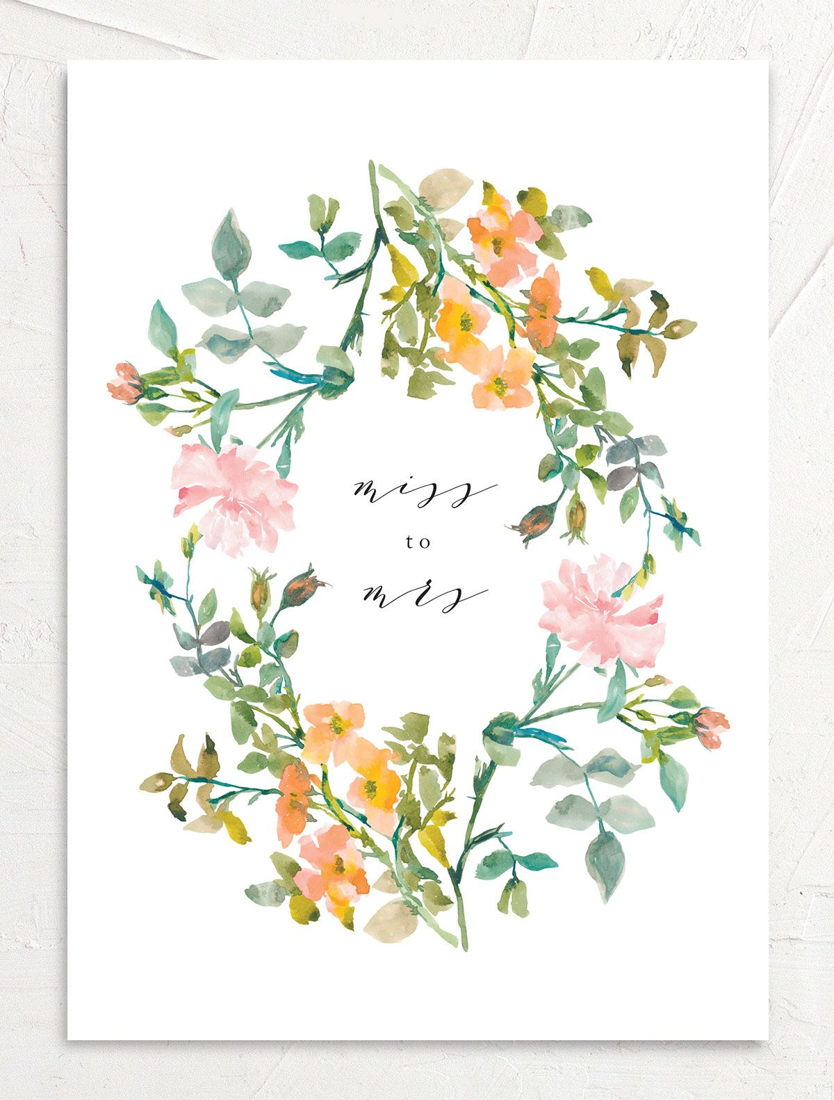 Minimal Floral Bridal Brunch invite back