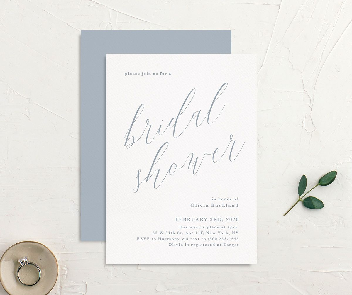 At Last Bridal Shower Invite front & back
