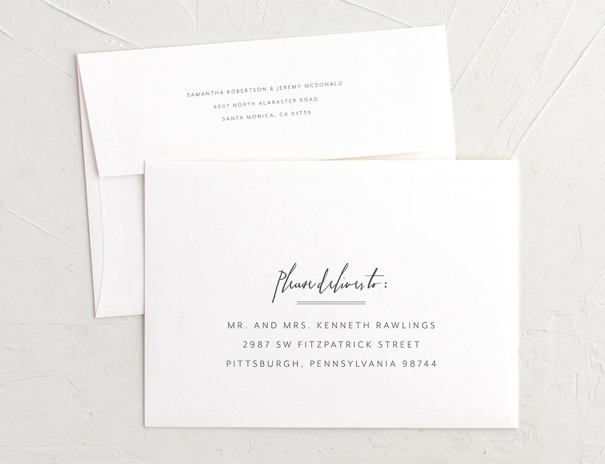 Mod Marble save the date envelopes