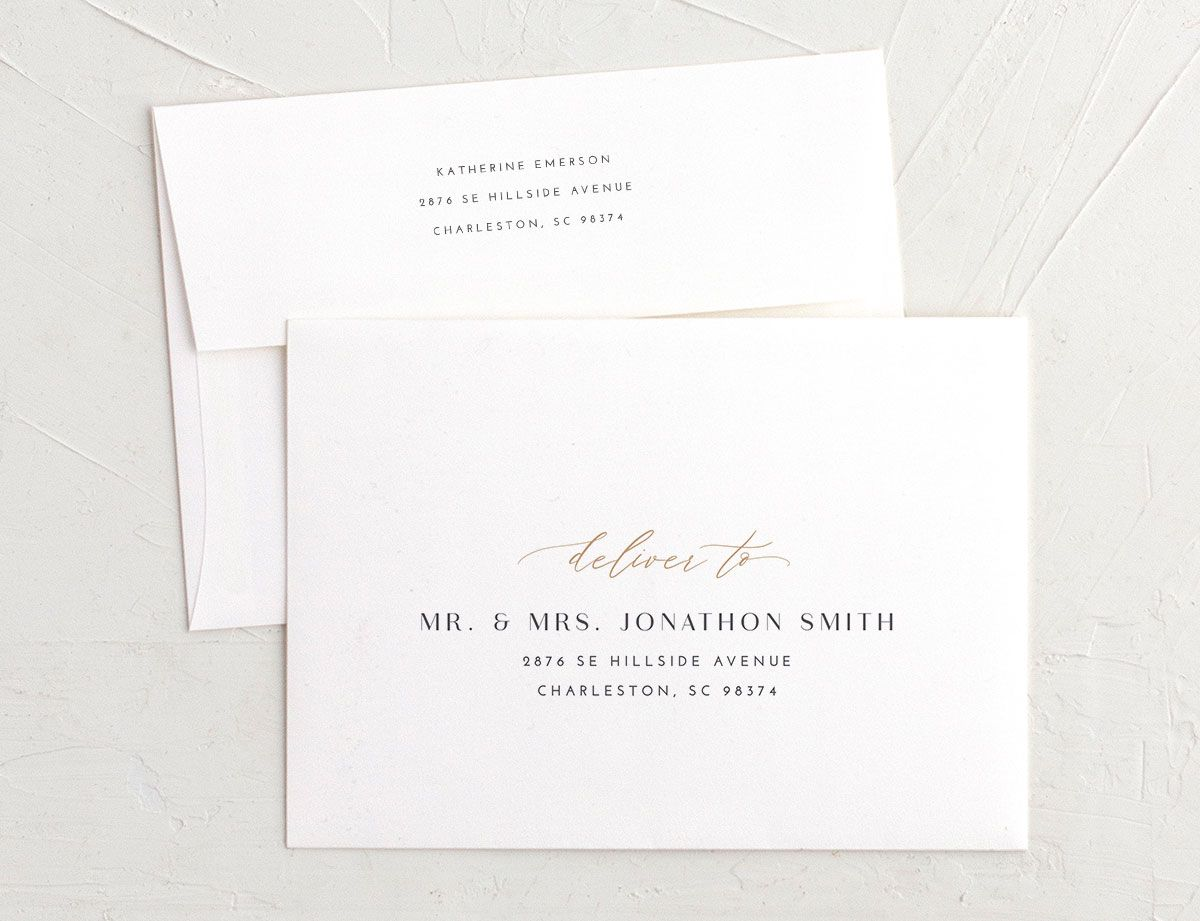 Sparkling Romance wedding invitation envelopes