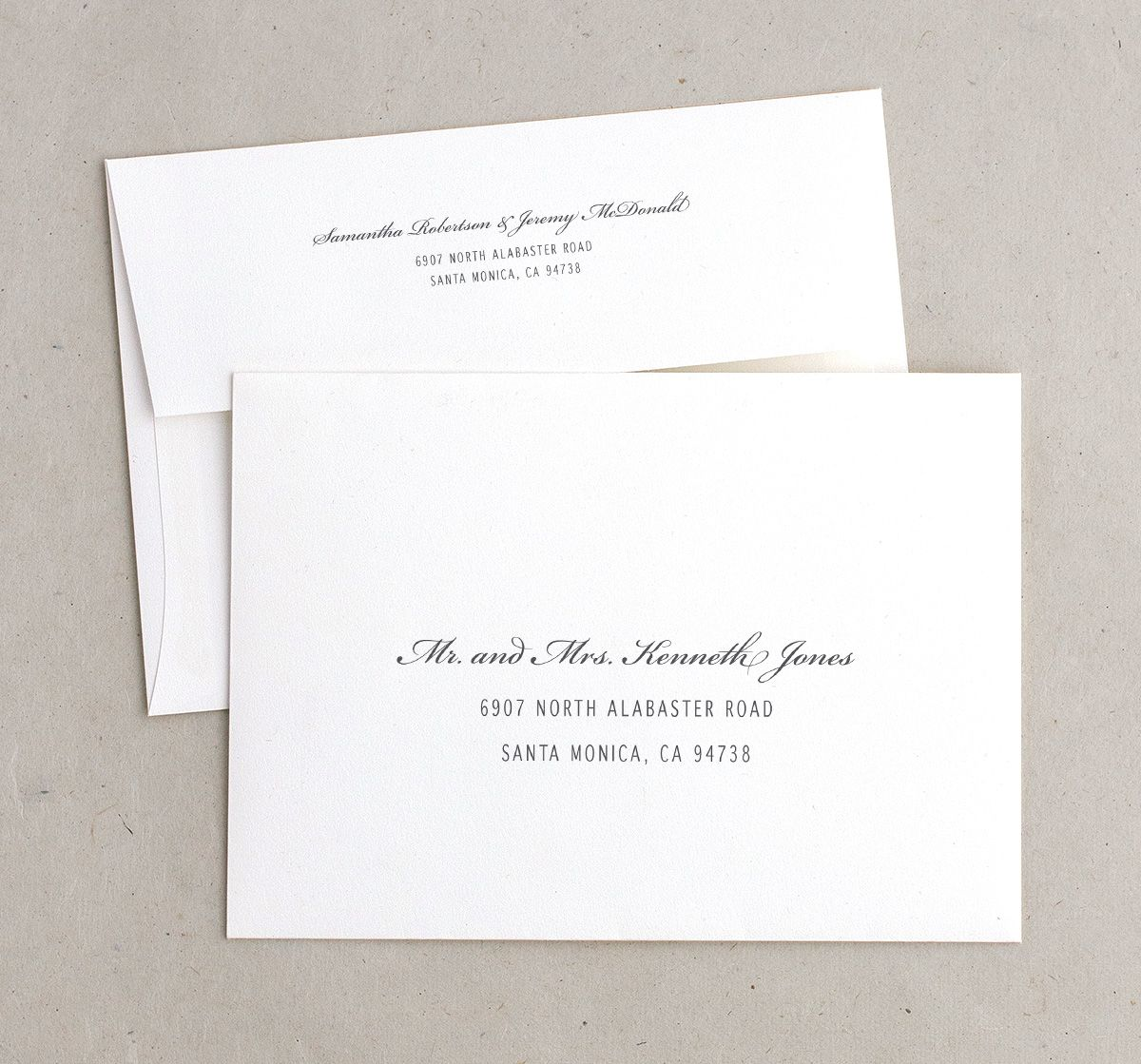 Vintage Boarding Pass wedding invitation envelopes