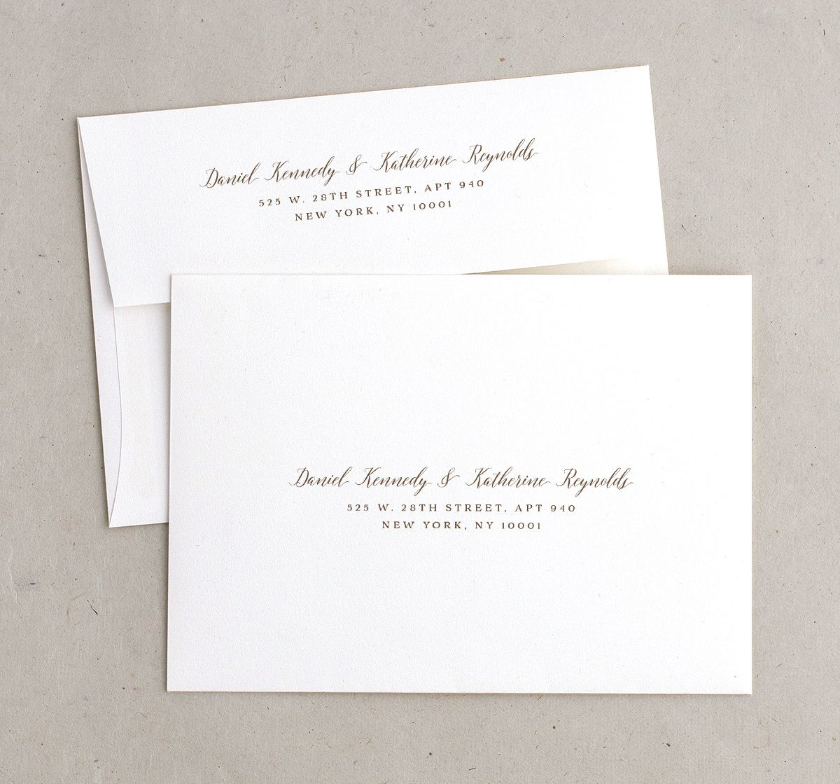 Woodgrain Lace wedding invitation envelopes