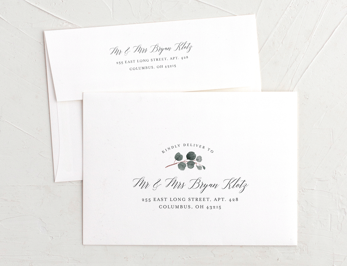 Floral Hoop Recipient Address Printing Envelopes
