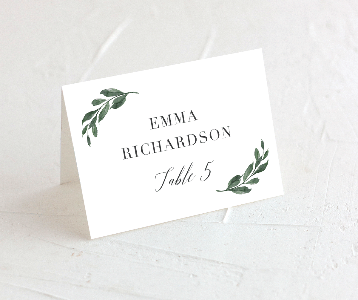Floral Hoop Wedding Place Cards