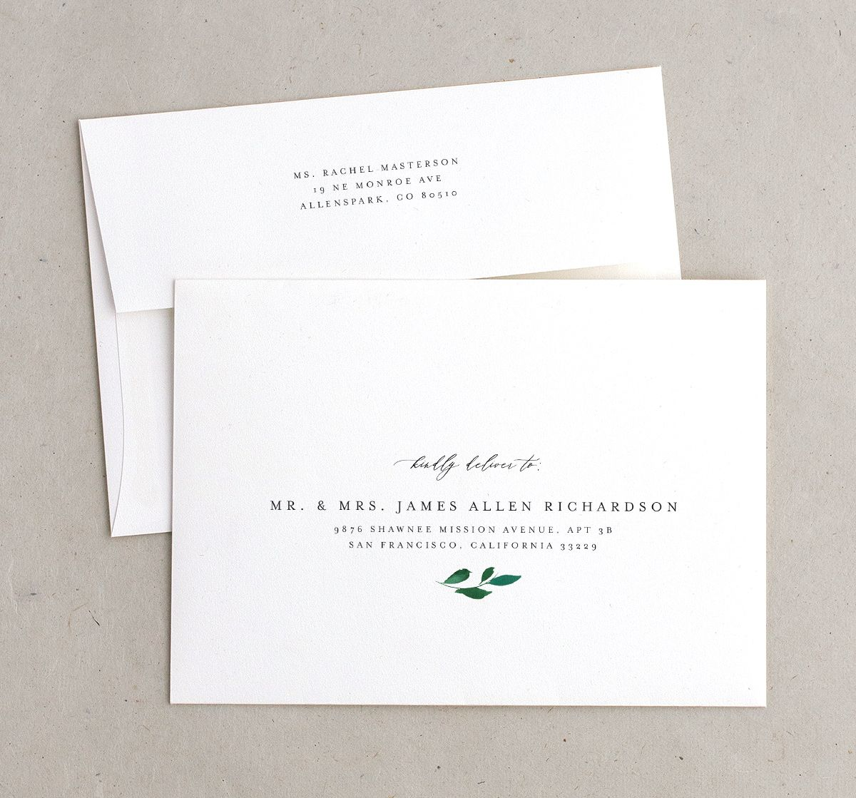 Cascading Altar recipient address printing