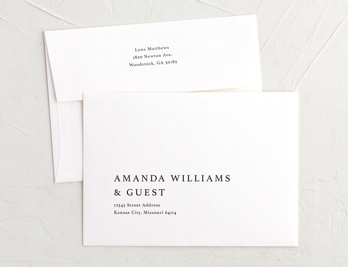 Natural Palette recipient & return address printing